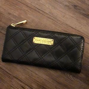 Marc Jacobs black quilted leather wallet